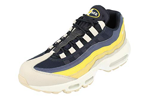Nike Men's Air Max 95 Essential Gymnastics Shoes, Grey White Vast Grey Lemon Wash Tour Yellow 107, 7 UK