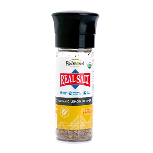 Redmond Real Sea Salt - Natural Unrefined Organic Gluten Free, Coarse Salt with Coarse Grinder (Original Bundle)