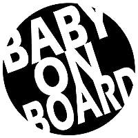 BABY ON BOARDステッカー ベイビーインカー 防水・車両OKカッティングステッカー RT071-BICB (黒)