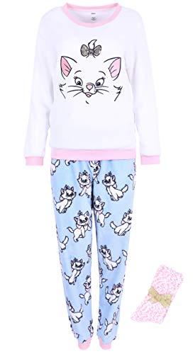 Pijama Blanco y Azul + Calcetines Gatita Marie Disney Large