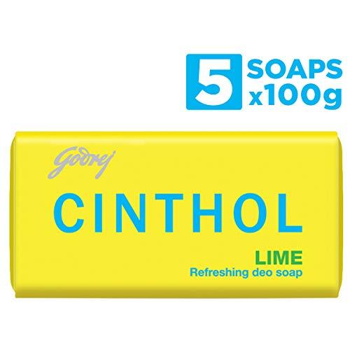 Cinthol Lime Bath Soap 100g (Pack of 4) + 100g...
