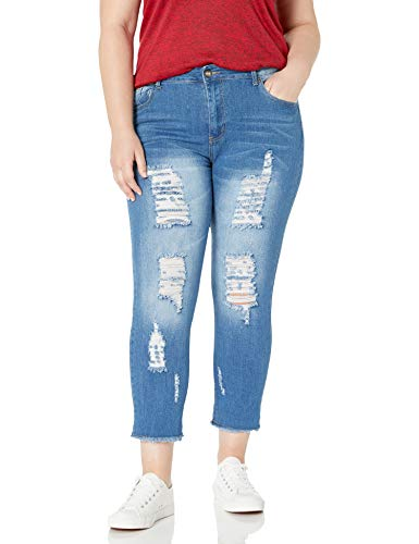 Cover-Girl-Womens-Distressed-Ripped-Skinny-Jeans