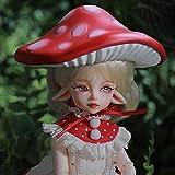 1/6 Linda Niña BJD SD Muñecas 27,3cm 100% Hecho a Mano Ball Jointed Doll Regalo de Cumpleaños Muñeca de Moda con Ropa Zapatos Peluca Maquillaje Champiñón Sombrero