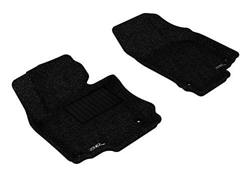 3D MAXpider Front Row Custom Fit Floor Mat for Select Volkswagen Jetta Models - Classic Carpet (Black)