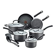 Amazon #DealOfTheDay: Save on T-fal Ultimate Hard Anodized Nonstick 12 Piece Cookware Set, Dishwasher Safe Pots and Pans Set, Black