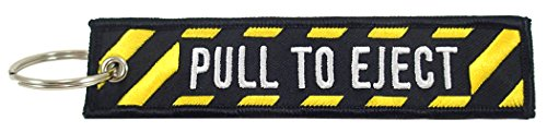 Pull To Eject, Embroidered Key Chain