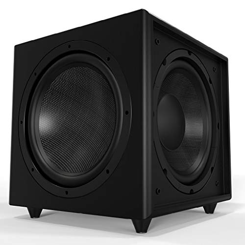 "OSD Black Trevoce Triple 12"" Home Theater 800W Powered Subwoofer, Faux Leather Finish"