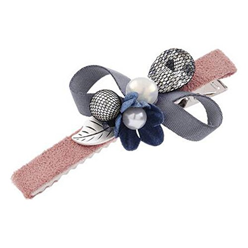 Set Of 2 Hair Clip for Girls/Women Ball Hairpin Hair Barrette,Orange/Pink