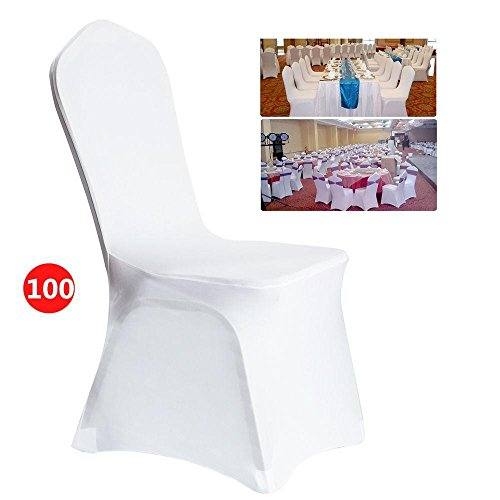 100pcs Universal Spandex Chair Covers Spandex for Wedding Supply Party Banquet Decoration [US STOCK]