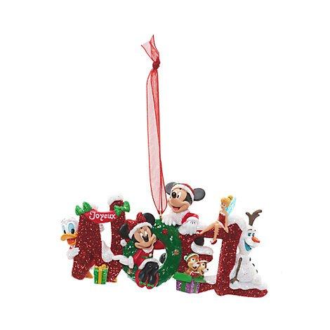 AU Decorazione Natalizia Noel Topolino E I Suoi Amici, Disneyland Paris, Ornamento Natalizio Disney Ufficiale