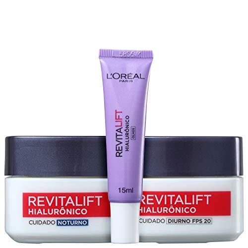 Kit L'Oréal Paris Revitalift Hialurônico Rosto e Olhos (3 Produtos)