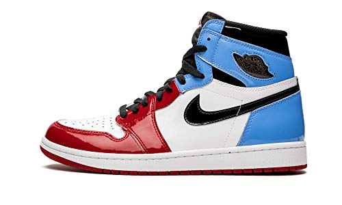 AIR JORDAN 1 Retro High OG Fearless Sneaker (44 EU 9 UK, White/Black-University Blue)