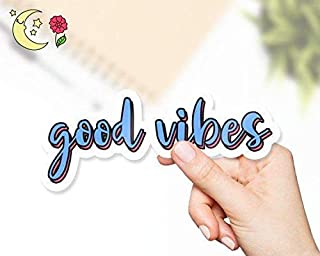 Good Vibes Blue And Red Sticker