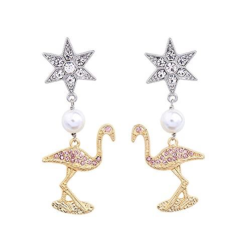 Pendientes largos con forma de estrella de cristal, pendientes delicados para mujer, joyería de moda, Brincos, moda clásica, joyería exquisita vintage, regalos para fiestas navideñas