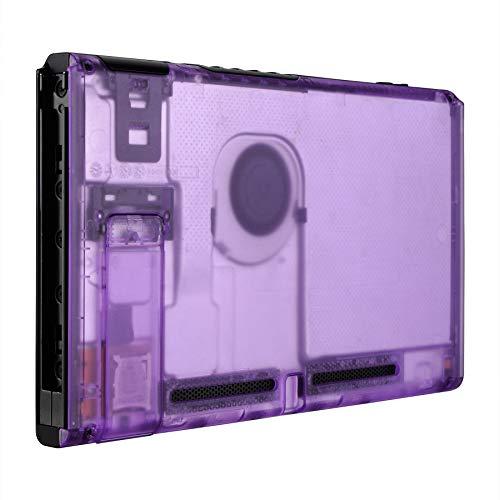 eXtremeRate Trasparente Viola Atomico Cover Console Posteriore DIY Custodia Scocca Case Ricambio per Nintendo Switch Console con Supporto-NON Include Console