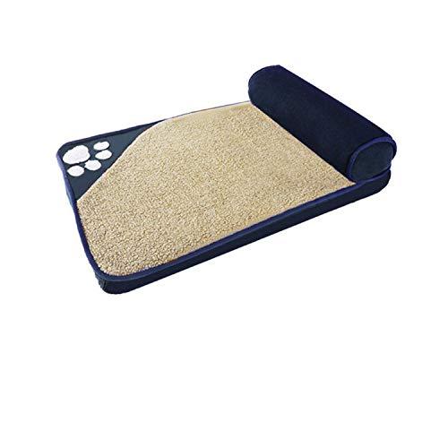 Summer Mat Pad | Tierbedarf Weiche große Hundehütte Mittlerer Hund Husky Jinmaotaidi Kleine Hundehütte Haustierbett Kissenbett-navy-100X65