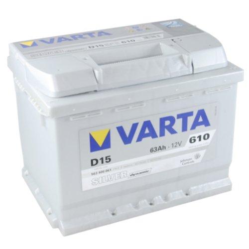 VARTA D15 Silver Dynamic / Autobatterie / Batterie 63 Ah