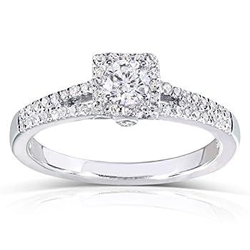Kobelli Round Diamond Engagement Ring 1/3 carat  ctw  in 14k White Gold Size 9 White Gold
