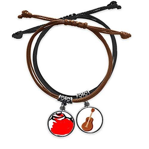 DIYthinker Traditionelle chinesische Teekanne, Armband aus Leder, Gitarre