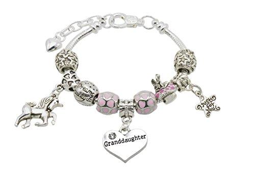 Jewellery Hut Girl's Unicorn Message Charm Bracelet with Gift Box - 9...