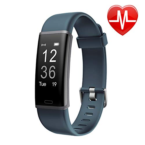 LETSCOM Fitness Tracker, Heart Rate Monitor Bluetooth Activity Tracker Watch with Sleep Monitor, Step Counter, Calorie Counter, Waterproof Pedometer Watch for Women and Men