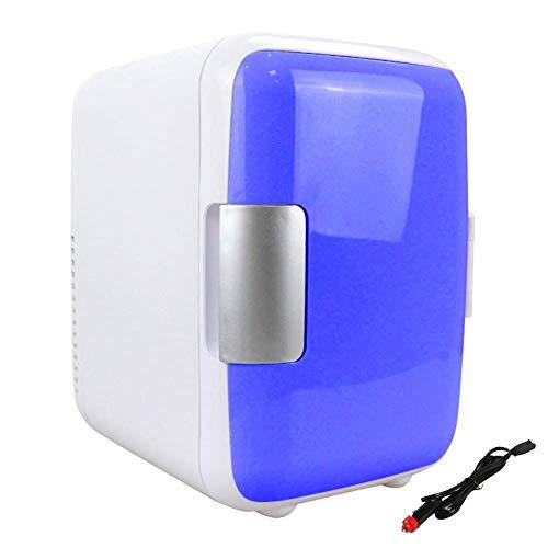 Hvoz - Frigorífico para coche, mini nevera con compartimento para congelador, 4 l, frigoríficos de maquillaje de doble uso para coche