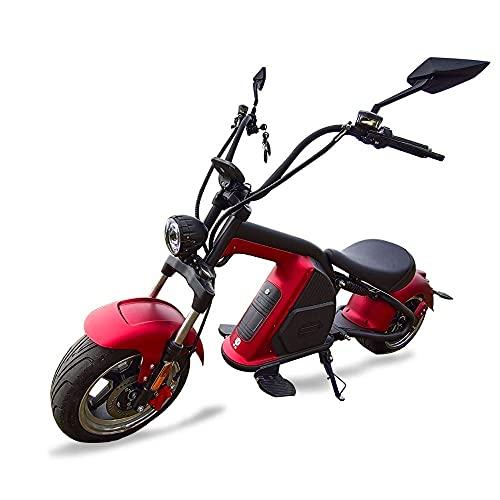 Mada M8 City Coc EEC - Patinete eléctrico, color rojo