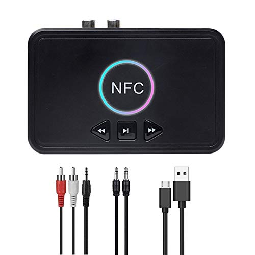 AIflyMi Adaptador Bluetooth inalámbrico Negro Receptor de Audio práctico y Duradero Receptor de Audio Bluetooth