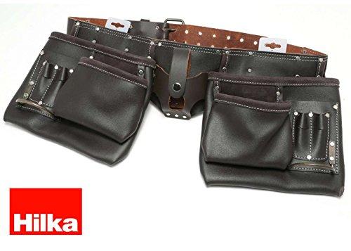 Hilka 77705002 resistente piel curtida al aceite cinturón doble para...