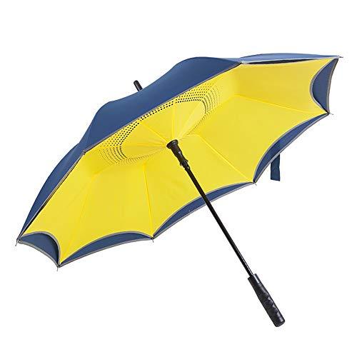 QNMP Parapluies longue poignée, renforcé coupe-vent...