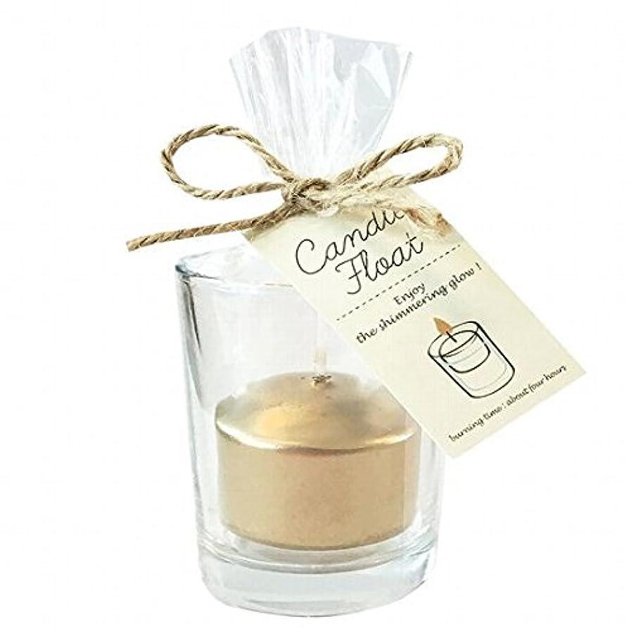 国勢調査タイプ病気カメヤマキャンドル(kameyama candle) キャンドルフロート 「ゴールド」6個セット
