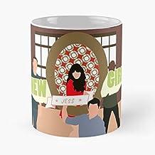 FitinC Jess Shmidt Nick New Girl Winston Best Mug Tiene 11oz de Mano Hechas de cerámica de mármol Blanco