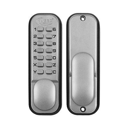 Asec Keyless Digital Door Lock with Holdback - Satin Chrome