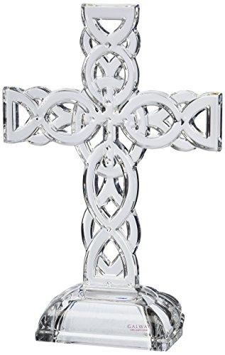 Belleek Pottery 34002 Celtic Cross, 11.4-Inch, Clear, Set of 1