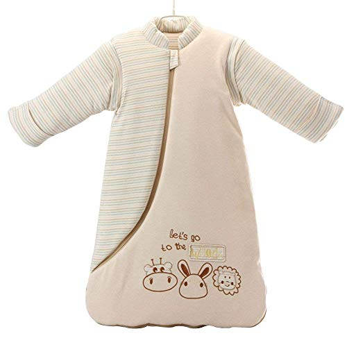 EsTong Unisex Baby Sleep Bag Wearable Blanket Cotton Sleeping Bag Long Sleeve Nest Nightgowns Rabbit/3.5 Tog S/6-12 Months