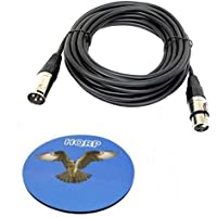 HQRP 3-Pin XLR M a XLR F Cable para Behringer B-1, B-2, B-5, ECM8000, XM8500 C-1, C-2, C-3, C-4 micrófono
