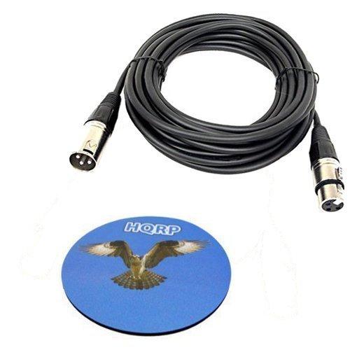 HQRP 3-Pin XLR M a XLR F Cable para Shure SM86, SM58, SM87A, SM48, PG58-XLR, PG48-XLR, PG57-XLR, PG81-XLR micrófono