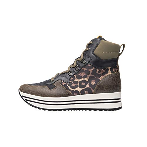 Nero Giardini A909042D Sneakers Donna in Pelle - Verde 38 EU