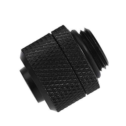 Reuvv Wasserkühlung Zubehör G1/4 Externe Gewinde für 9.5 x 12.7mm Weich Tube PC Computer Verbinder System - Schwarz