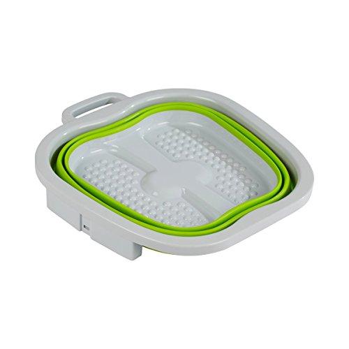 TRI Platzspar-Fußbad, Fuß-Pflege-Wanne faltbar, Spülwanne Schüssel, Waschen Reinigen Pflege Pedikür gepflegte Füße, Kunststoff