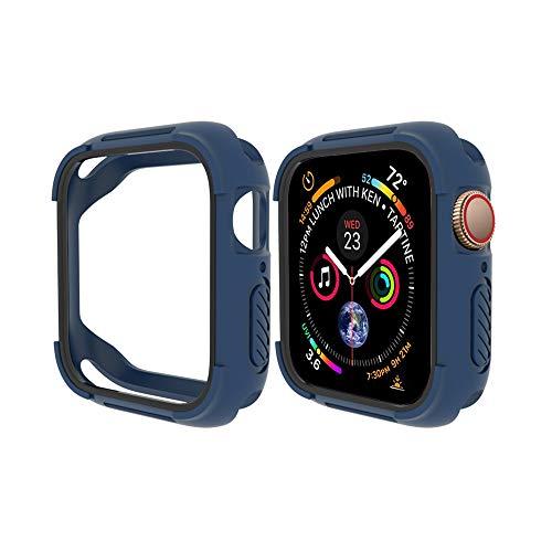 FayYang Compatibile con Apple Watch 4 Case 40mm, Shock Proof Bumper Protector per Scratch TPU Custodia Protettiva per Apple Watch Series 4 40mm, Blu/Nero