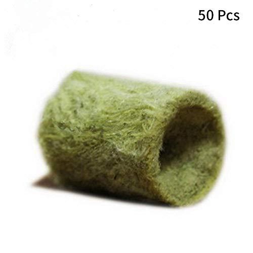 Matedepreso 50 Stück/100 Stück Steinwolle-Dübel, landwirtschaftliche Hydrokultur-Vermehrung, Wachstumsmedien, Starterstecker, nicht null, Wie abgebildet, 50pcs