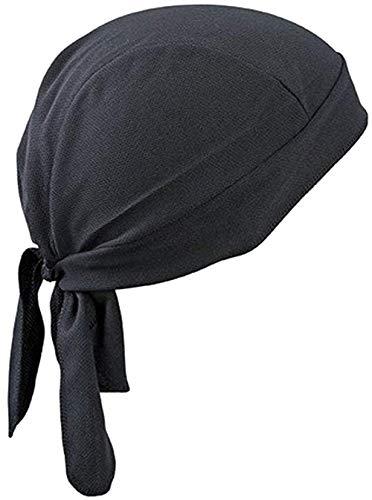 Bandana de ciclismo diadema deportes bufanda pañuelo couvre pirata transpirable gorra gorro cálido anti-UV protección solar bajo casco Protección Cabeza para Adultos Hombres Mujeres, Negro