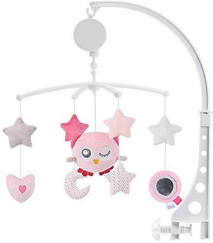 Bébé musical berceau cloche Mobile tissu jouet lit bébé jouet mobile doux mouvement de rotation doux Starlight chansons apaisantes pour bébés garçons et filles Décoration chambre enfant (B)