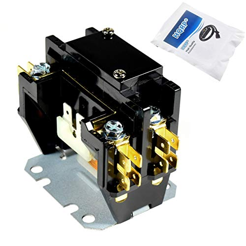 HQRP Single Pole / 1 Pole 30 Amp Condenser Contactor Compatible with Carrier Payne Bryant HN51KC024 Replacement, UL Listed