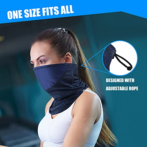 Polma Cooling Neck Gaiter Face Mask - Breathable Lightweight Dust & UV Sun-Protection Bandanas for Men Outdoors