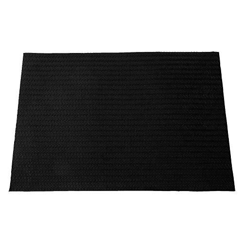 HEEPDD Pad Suola in Gomma Scarpe Antiscivolo Resistenti all'Usura Materiale di Riparazione Inferiore per Scarpe Casual Scarpe in Pelle Sandali 22,83 x 14,96 x 0,09 Pollici(Nero)