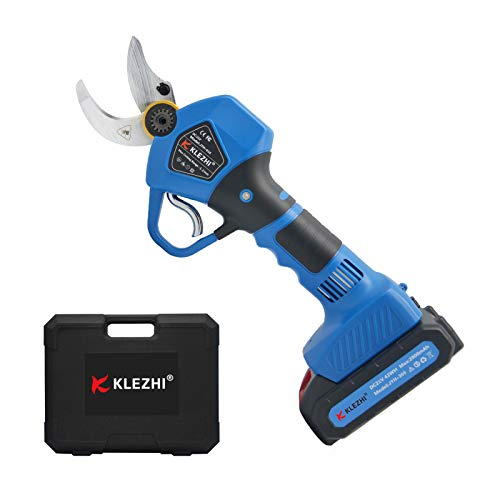 Learn More About K KLEZHI Professional Cordless Electric Pruning Shears with 2 PCS Backup Rechargeab...