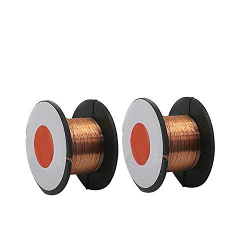 Alambre de soldadura, 2 rollos de alambre de cobre para teléfono móvil, ordenador, cable de reparación de placa base, color dorado