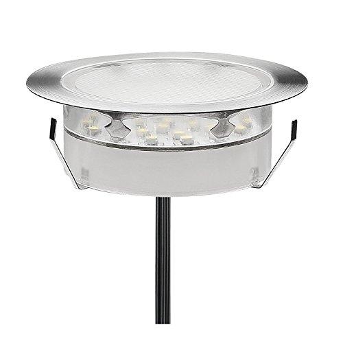 QACA LED Einbauleuchten Bodeneinbaustrahler RGB Deckenspot Einbaustrahler Deckenleuchte Wasserdicht IP67 Einbaulampe 0,7~2W Ø80mm Außenleuchten für Küche Garten Treppen Balkon Terrasse
